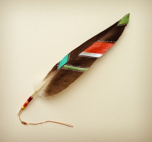 photo of painted feather, totem, symbol, dreams, goals, flight